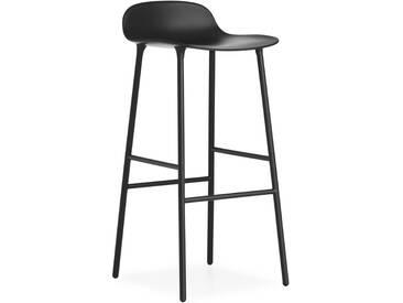 Normann Copenhagen - Form Barstuhl - 75 cm - schwarz