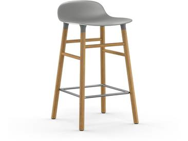 Normann Copenhagen - Form Barstuhl Holzgestell/Metallverstrebung - 65 cm - grau - Eiche