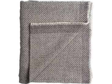 Roros Tweed - Una Decke - grey