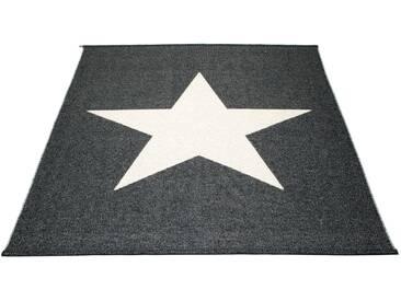 Pappelina - Viggo Star Teppich - schwarz metallic - 180 x 230 cm