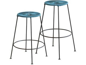 OK Design - Acapulco Barhocker - Petroleum blue - Höhe 66 cm