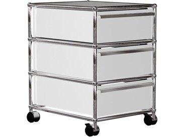 USM Haller - Rollcontainer mit 3 Schubladen - weiß