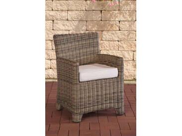 Polyrattan Sessel St. Augustin-rund/natura-Cremeweiß