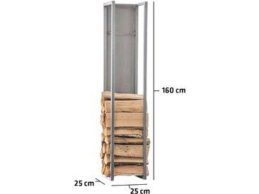 Kaminholzständer Spark-edelstahl-25x25x160 cm