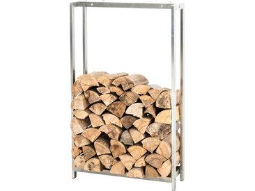 Kaminholzständer Forest-edelstahl-150x70 cm
