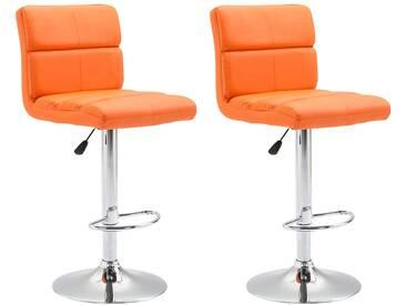 2er Set Barhocker Umbria-orange
