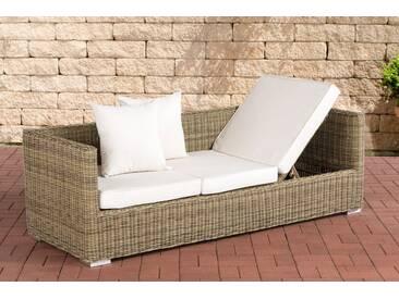 Lounge-Sofa Solano 5mm Rundrattan-rund/natura-Cremeweiß