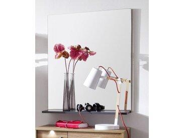 Garderobenspiegel Coast Wotan Eiche und grau Wandspiegel 69 x 84 cm
