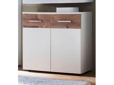 Waschbeckenunterschrank Summer in weiß und Bramberg Fichte 70 cm