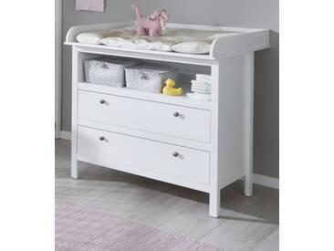 Wickelkommode in Landhaus weiß 90 x 104 cm Babymöbel Ole
