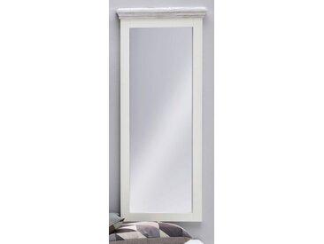 Garderobenspiegel Opus in Kiefer weiß massiv 59 cm