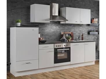 Einbauküche AUDREY I Grau Küchenzeile 270 cm Küche Küchenblock mit E-Geräte