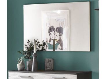 Garderobenspiegel Flur Wandspiegel grau 91 x 60 cm Smart