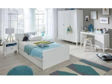 Kinderzimmer / Jugendzimmer komplett Set Ole 5-teilig in Landhaus weiß