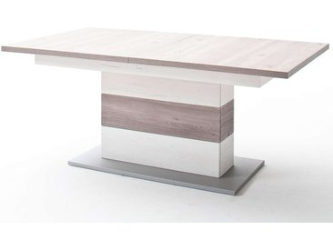 MCA, Säulenesstisch Bozen ausziehbar  Tischplatte: Eiche Nelson Melamin Nachbildung Tischsäule: Pini