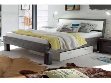 HASENA, Bett Factory-Line Loft 18 Ivio Arcada Arona weiß, 180x220 cm,