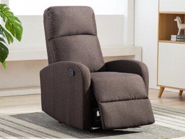 Relaxsessel Fernsehsessel Stoff ISAO - Braun