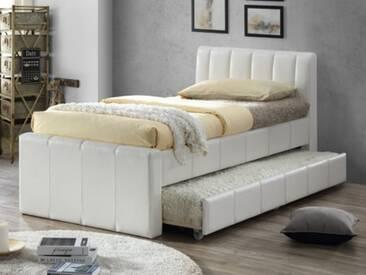 Ausziehbett Andrea - 2x 90x190cm - Weiß