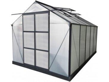 Garten Gewächshaus Aluminium Corolle - 9 m² - Anthrazit