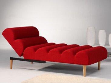 Relaxliege Longchair CIVAL - Rot