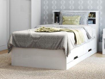 Bett mit Bettkasten BORIS + Lattenrost - 90x190cm