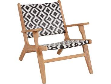 Lounge-Sessel Grey Cliff FSC® Schwarz-Weiß