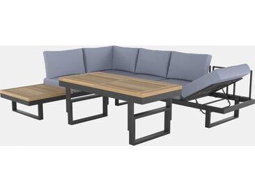 Lounge-Set mit Esstisch Mocksville 3-teilig FSC® Anthrazit