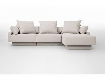 FEYDOM Sitzecke CUBAN – Modulsofa-Set mit Gästebett-Funktion; Schlafsofa für 2 Erwachsen, Ohne Werkzeug umzubauen zum 2-Sitzer-Sofa oder Gästebett, links/rechts verwendbar, Stauraum unter den Sesselelementen. Erweiterbar.