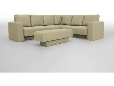 Wohnlandschaft modulares Sofa, grau, Veloursstoff - FEYDOM CHOICE 5