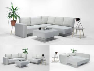 CHOICE 16 Modulsofa-System, max 237cm x 215 weiss, Microfaser, als Schlafsofa, 2er Sofa, Recamiere, Erweiterbar, Schlafsofa, Day-Bed, Ausgezeichnet mit dem German Design Award 2017