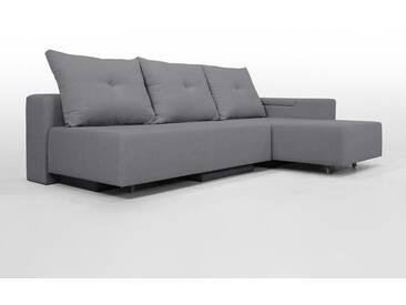 Modulsofa Set BonBon2 M Design-Sofa mit Doppelbett-Funktion, elegantes Hellgrau, Erweiterbar, flexibel zu stellen: Z.B.: als 2-Sitzer mit Liege oder als Ecksofa, Lehne mit Stauraum