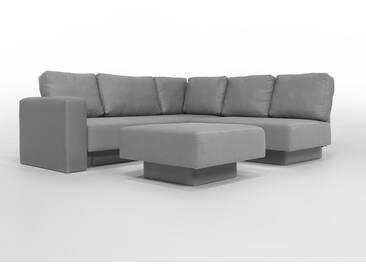 CHOICE 16 Modulsofa-System, max 237cm x 215 Mittelgrau, Webstoff, als Schlafsofa, 2er Sofa, Recamiere, Erweiterbar, Schlafsofa, Day-Bed, Ausgezeichnet mit dem German Design Award