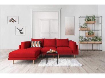 Modulares Scandi Style Sofa CLOOODS, rot, 262cm breit