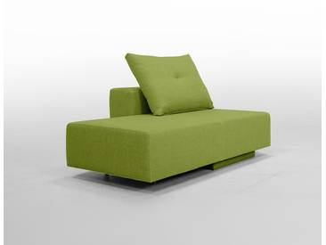 Modulsofa BonBon2 Mini Sofa / Bett mit Kissen / grasGrün, Grün, Microfaser, Schlafsofa 202x80cm oder Mini-Sofa 173x80cm, 143x80cm, Day-Bed, Recamiere, Chaiselongues