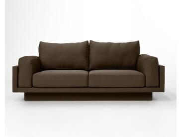 3-Sitzer-Sofa Schlafsofa Verwandlungssofa CLOUD-B chocolate braun Verlourstoff / Mikrofaser, sehr pflegeleicht, 214cm breit