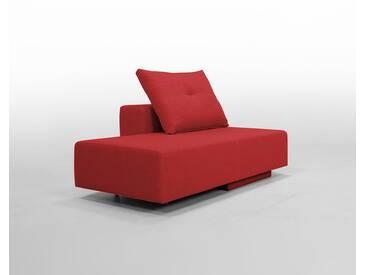 Modulsofa BonBon2 Mini Sofa / Bett mit Kissen / rot, Microfaser, Schlafsofa 202x80cm oder Mini-Sofa 173x80cm, 143x80cm, Day-Bed, Recamiere, Chaiselongues
