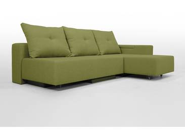 Modulsofa Set BonBon2 M Design-Sofa mit Doppelbett-Funktion, helles grün, Erweiterbar, flexibel zu stellen: Z.B.: als 2-Sitzer mit Recamiere oder als Ecksofa, Lehne mit mit Stauraum