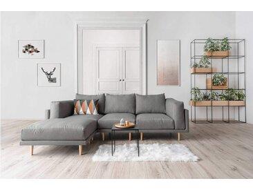 Modulares Scandi Style Sofa CLOOODS, mittelgrau, 262cm breit