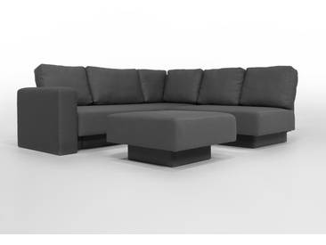 CHOICE 16 Modulsofa-System, max 237cm x 215 Dunkelgrau, grau, Microfaser, als Schlafsofa, 2er Sofa, Recamiere, Erweiterbar, Schlafsofa, Day-Bed, Ausgezeichnet mit dem German Design Award
