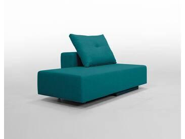 Modulsofa BonBon2 Mini Sofa / Bett mit Kissen / tuerkisblau, tuerkis, Webstoff,Schlafsofa 202x80cm oder Mini-Sofa 173x80cm, 143x80cm, Day-Bed, Recamiere, Chaiselongues