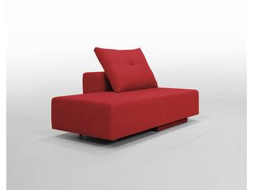 Modulsofa BonBon2 Mini Sofa / Bett mit Kissen / rot, Webstoff, Schlafsofa 202x80cm oder Mini-Sofa 173x80cm, 143x80cm, Day-Bed, Recamiere, Chaiselongues