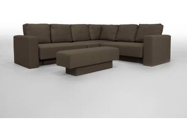Sitzecke mit Schlaffunktion, braun, flexibel zu stellen - FEYDOM CHOICE 5