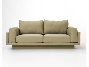 3-Sitzer-Sofa Schlafsofa Verwandlungssofa CLOUD-B Cappuccino beige Verlourstoff / Mikrofaser, sehr pflegeleicht, 214cm breit