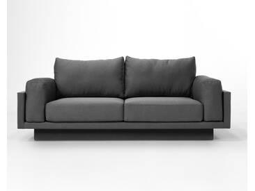 3-Sitzer-Sofa Schlafsofa Verwandlungssofa CLOUD-B dunkelgrau Verlourstoff / Mikrofaser, sehr pflegeleicht, 214cm breit