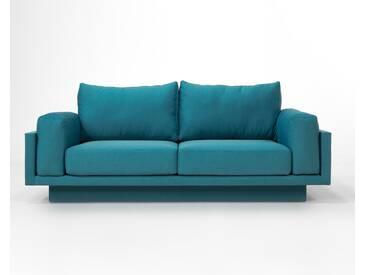 3-Sitzer-Sofa Schlafsofa Verwandlungssofa CLOUD-B tuerkis edler Webstoff, sehr pflegeleicht, 214cm breit