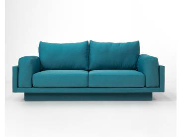 3-Sitzer-Sofa Schlafsofa Verwandlungssofa CLOUD-B dunkel grau, schöner Strukturstoff, pflegeleicht, 214cm Gesamtbreite