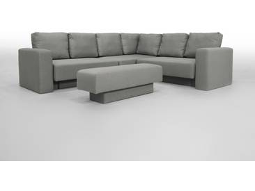Sitzgruppe, Sofa, Schlafsofa, Modulsofa, Schlaffunktion, grau, Veloursstoff - FEYDOM CHOICE 5