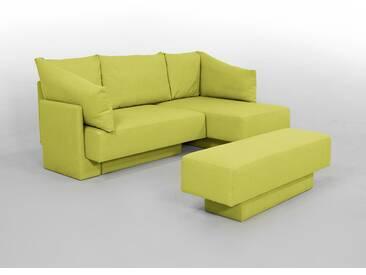 Kleines Schlafsofa als Gästebett oder Gästesofa, als Ecksofa oder Sitzgruppe, Schlaffunktion, grün – FEYDOM CHOICE 1