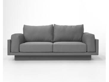 3-Sitzer-Sofa Schlafsofa Verwandlungssofa CLOUD-B mittelgrau elegant, schöner Strukturstoff, pflegeleicht, 214cm Gesamtbreite