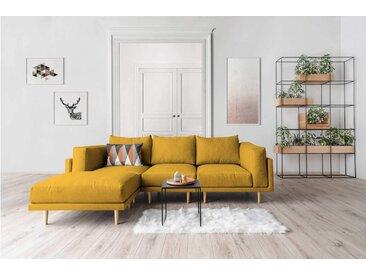 Modulares Scandi Style Sofa CLOOODS, gelb, 262cm breit